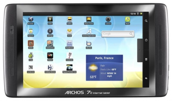Планшет Archos 70 internet tablet фото 1